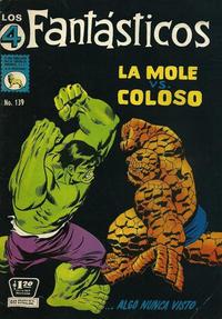 Cover Thumbnail for Los 4 Fantásticos (Editora de Periódicos La Prensa S.C.L., 1962 series) #139