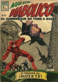 Cover Thumbnail for Diabólico (Editora de Periódicos La Prensa S.C.L., 1966 series) #20