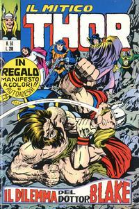 Cover Thumbnail for Il Mitico Thor (Editoriale Corno, 1971 series) #50