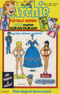 Cover Thumbnail for Archie (Semic, 1982 series) #3/1985