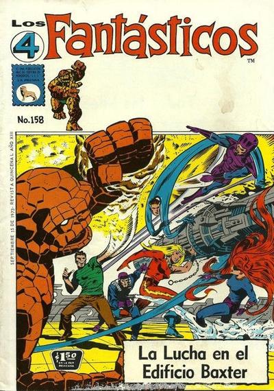 Cover for Los 4 Fantásticos (Editora de Periódicos La Prensa S.C.L., 1962 series) #158