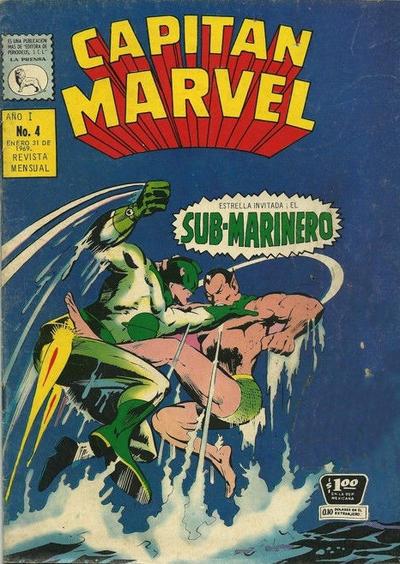 Cover for Capitán Marvel (Editora de Periódicos La Prensa S.C.L., 1968 series) #4