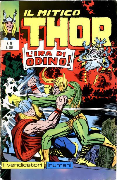 Cover for Il Mitico Thor (Editoriale Corno, 1971 series) #46