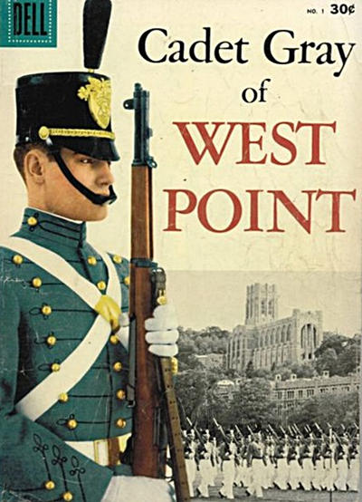 Cover for Cadet Gray of West Point (Dell, 1958 series) #1