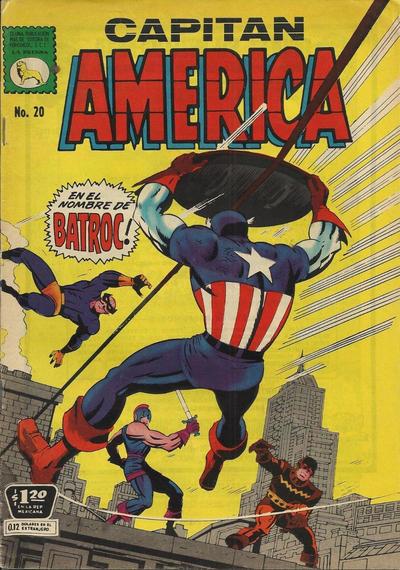 Cover for Capitán América (Editora de Periódicos La Prensa S.C.L., 1968 series) #20