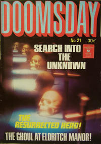 Cover Thumbnail for Doomsday (K. G. Murray, 1972 series) #21