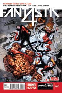 Cover Thumbnail for Fantastic Four (Marvel, 2014 series) #2 [Leonard Kirk Cover]