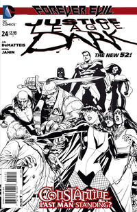 Cover Thumbnail for Justice League Dark (DC, 2011 series) #24 [Mikel Janin Black & White Cover]
