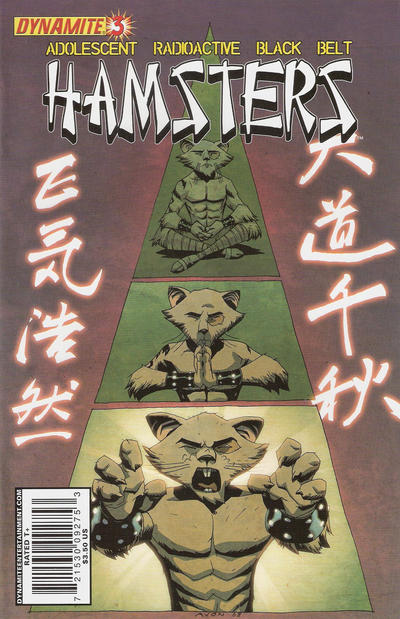 Cover for Adolescent Radioactive Black Belt Hamsters (Dynamite Entertainment, 2008 series) #3 [Tom Nguyen Cover]