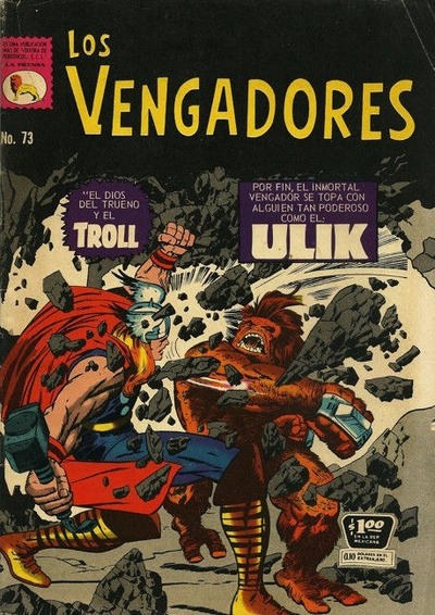 Cover for Los Vengadores (Editora de Periódicos La Prensa S.C.L., 1965 series) #73