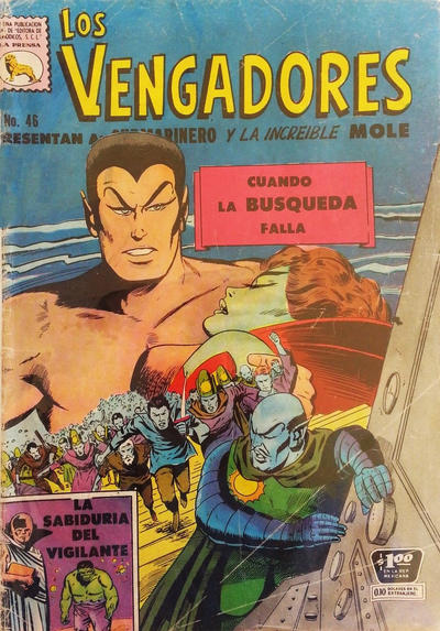 Cover for Los Vengadores (Editora de Periódicos La Prensa S.C.L., 1965 series) #46