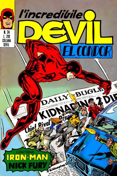 Cover for L'Incredibile Devil (Editoriale Corno, 1970 series) #74