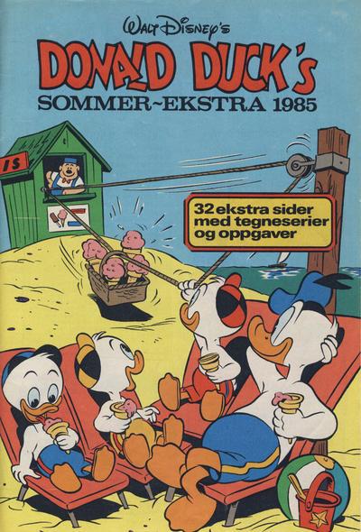 Cover for Donald Duck & Co Ekstra [Bilag til Donald Duck & Co] (Hjemmet / Egmont, 1985 series) #sommer 1985