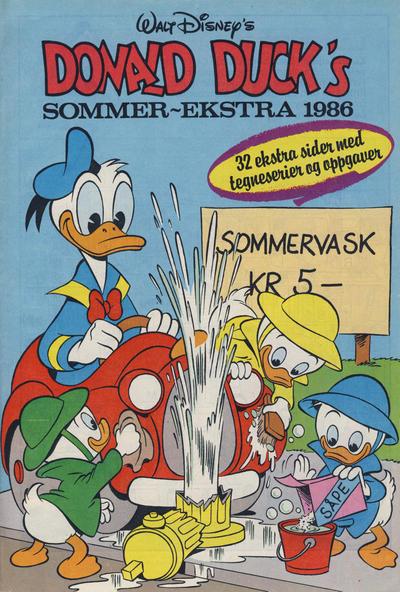 Cover for Donald Duck & Co Ekstra [Bilag til Donald Duck & Co] (Hjemmet / Egmont, 1985 series) #sommer 1986