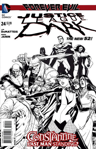 Cover for Justice League Dark (DC, 2011 series) #24 [Mikel Janin Black & White Cover]