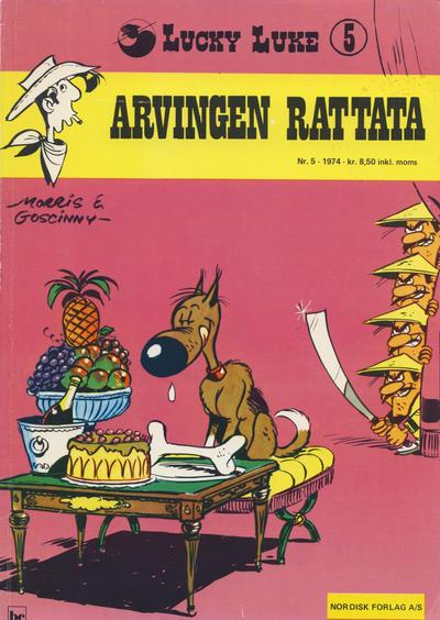 Cover for Lucky Luke (Nordisk Forlag, 1973 series) #5 - Arvingen Rattata