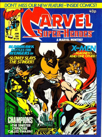 Cover for Marvel Superheroes [Marvel Super-Heroes] (Marvel UK, 1979 series) #374