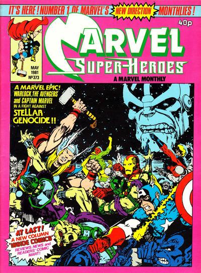 Cover for Marvel Superheroes [Marvel Super-Heroes] (Marvel UK, 1979 series) #373