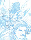 Cover Thumbnail for Angel (2009 series) #22 [Gabriel Rodriguez Retailer Incentive Blueline Sketch Cover (1 in 25)]