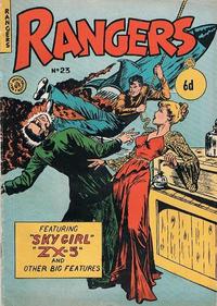 Cover Thumbnail for Rangers Comics (H. John Edwards, 1950 ? series) #23 [6d]