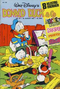 Cover Thumbnail for Donald Duck & Co (Hjemmet / Egmont, 1948 series) #35/1987