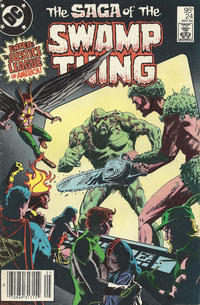 Cover for The Saga of Swamp Thing (DC, 1982 series) #24 [Direct Sales]