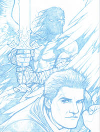 Cover Thumbnail for Angel (IDW, 2009 series) #22 [Gabriel Rodriguez Retailer Incentive Blueline Sketch Cover (1 in 25)]