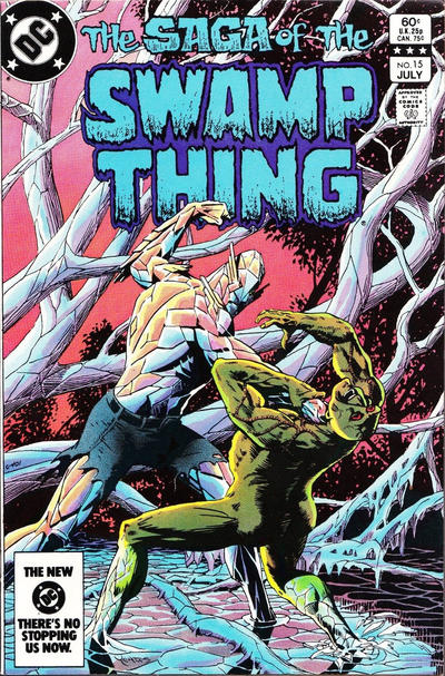 Cover for The Saga of Swamp Thing (DC, 1982 series) #15 [Newsstand]