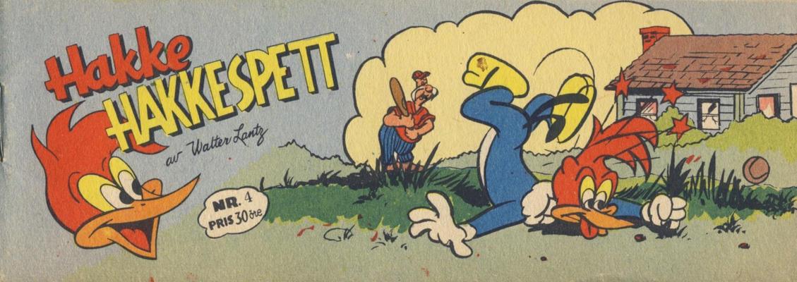 Cover for Hakke Hakkespett (Serieforlaget / Se-Bladene / Stabenfeldt, 1957 series) #4 [1957]