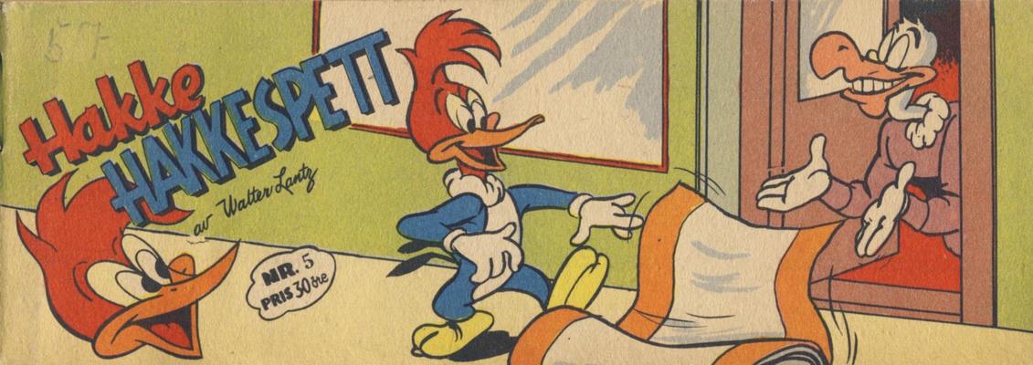 Cover for Hakke Hakkespett (Serieforlaget / Se-Bladene / Stabenfeldt, 1957 series) #5 [1957]