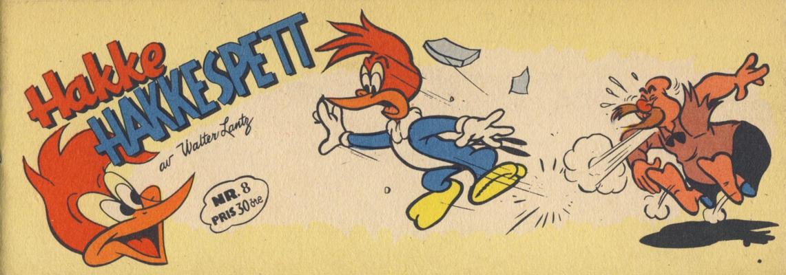Cover for Hakke Hakkespett (Serieforlaget / Se-Bladene / Stabenfeldt, 1957 series) #8 [1957]