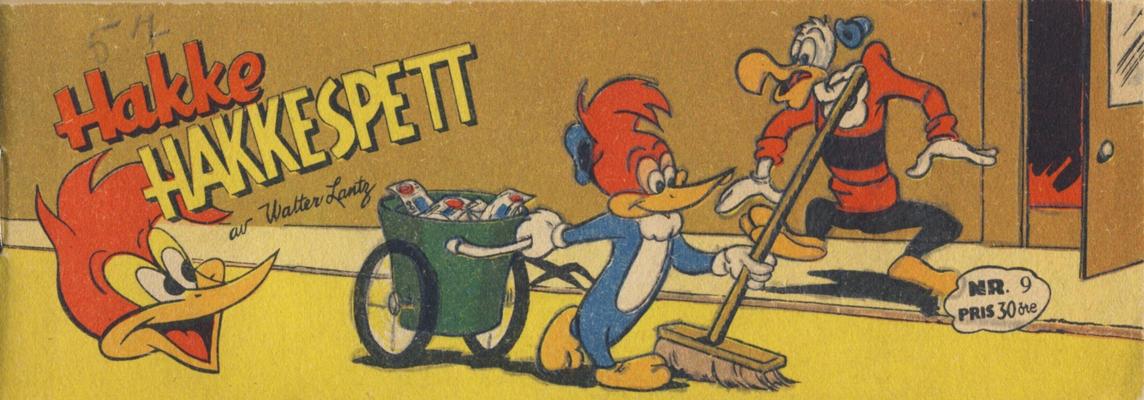 Cover for Hakke Hakkespett (Serieforlaget / Se-Bladene / Stabenfeldt, 1957 series) #9 [1957]