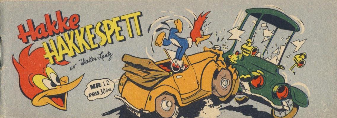 Cover for Hakke Hakkespett (Serieforlaget / Se-Bladene / Stabenfeldt, 1957 series) #12 [1957]