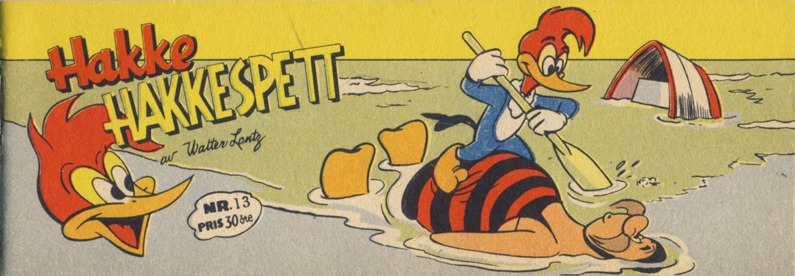 Cover for Hakke Hakkespett (Serieforlaget / Se-Bladene / Stabenfeldt, 1957 series) #13 [1957]