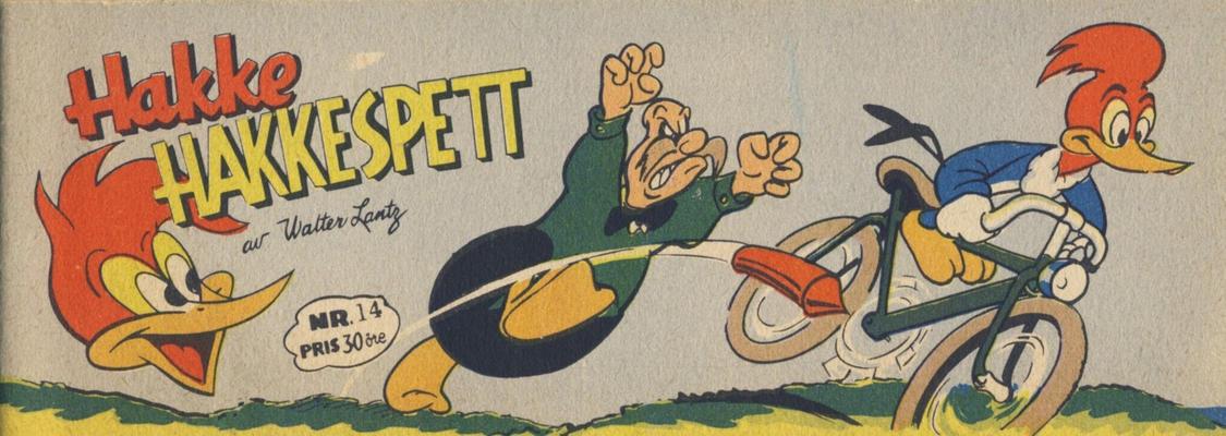 Cover for Hakke Hakkespett (Serieforlaget / Se-Bladene / Stabenfeldt, 1957 series) #14 [1957]