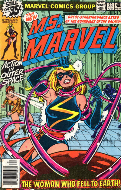 Cover for Ms. Marvel (Marvel, 1977 series) #23 [British price variant]
