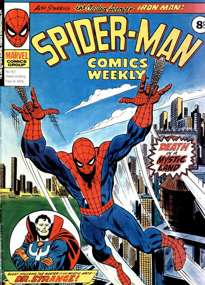 Cover for Spider-Man Comics Weekly (Marvel UK, 1973 series) #157