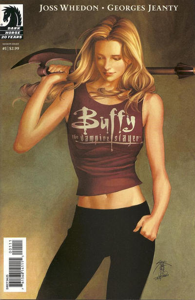 Cover for Buffy the Vampire Slayer Season Eight (Dark Horse, 2007 series) #1 [George Jeanty Variant Cover]