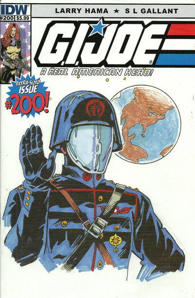 Cover for G.I. Joe: A Real American Hero (IDW, 2010 series) #200 [Cover B - Herb Trimpe]