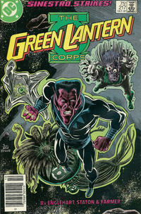 Cover Thumbnail for The Green Lantern Corps (DC, 1986 series) #217 [Newsstand Edition]