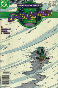 Cover Thumbnail for The Green Lantern Corps (DC, 1986 series) #220 [Newsstand Edition]