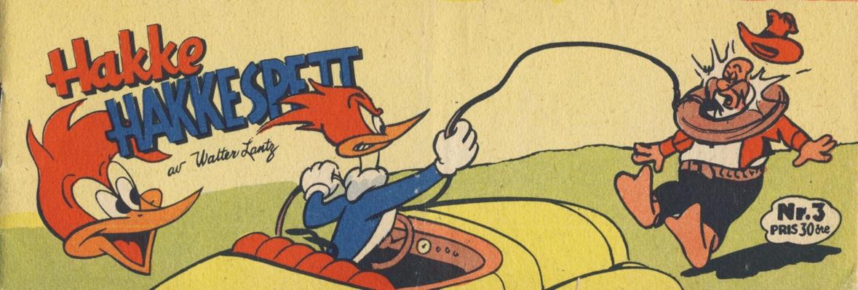 Cover for Hakke Hakkespett (Serieforlaget / Se-Bladene / Stabenfeldt, 1957 series) #3 [1958]