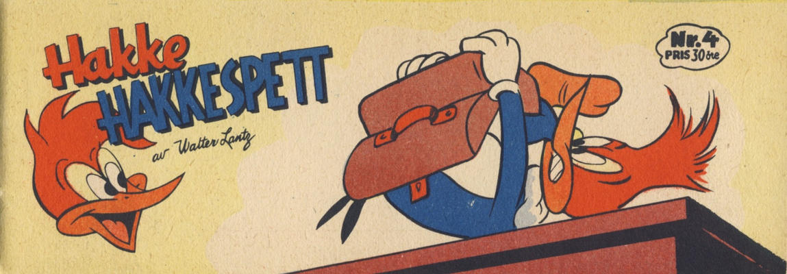 Cover for Hakke Hakkespett (Serieforlaget / Se-Bladene / Stabenfeldt, 1957 series) #4 [1958]