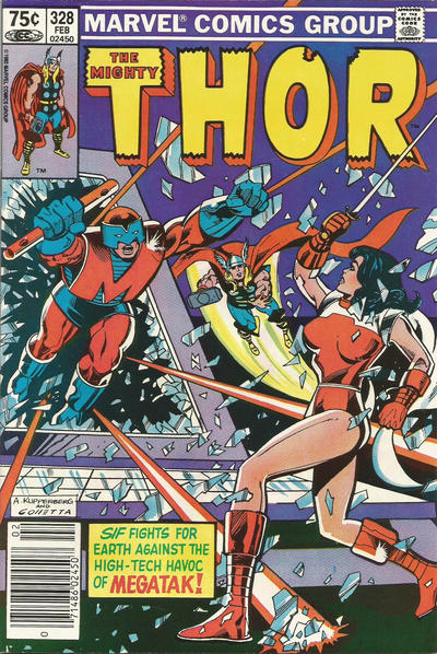 Cover for Thor (Marvel, 1966 series) #328 [Direct Edition]