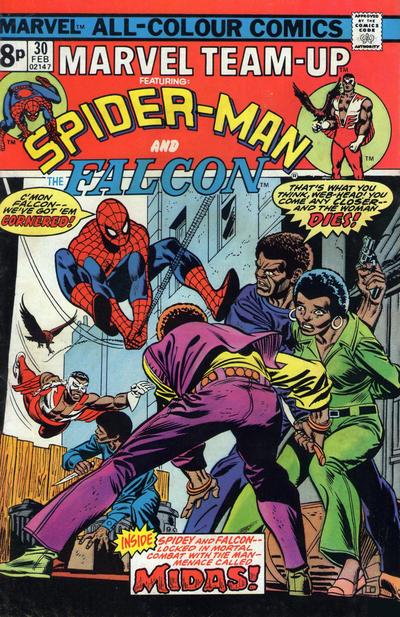 Cover for Marvel Team-Up (Marvel, 1972 series) #30 [British]