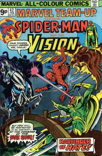 Cover for Marvel Team-Up (Marvel, 1972 series) #42 [British price variant.]