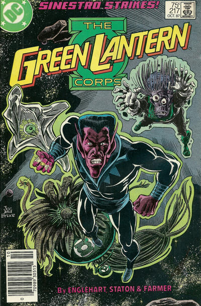 Cover for The Green Lantern Corps (DC, 1986 series) #217 [Direct Edition]