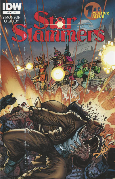 Cover for Star Slammers (IDW, 2014 series) #1 [Regular Cover]