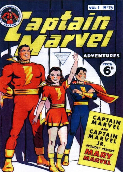 Cover for Captain Marvel [Captain Marvel Adventures] (L. Miller & Son, 1953 series) #v1#13
