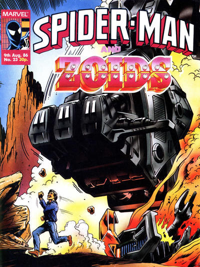 Cover for Spider-Man and Zoids (Marvel UK, 1986 series) #23